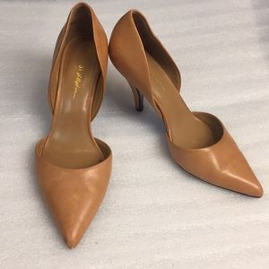 3.1 Philip Lim heel nude leather pump d'orsay shoe